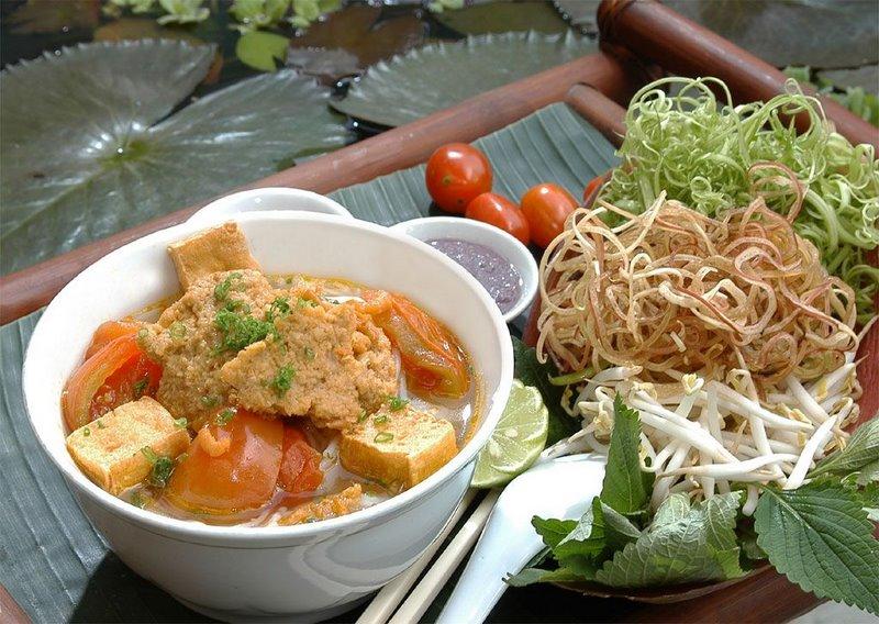 bun rieu cua Bun bo hue bun ca bun cha bun moc bun rieu bun rieu cua ca kho ca phe chao bún riêu, is a classic vietnamese rice vermicelli soup with a richly-pungent.