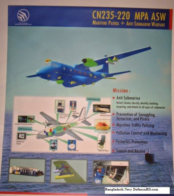 CN-235 ASW Anti Submarine Warfare MPA Bangladesh