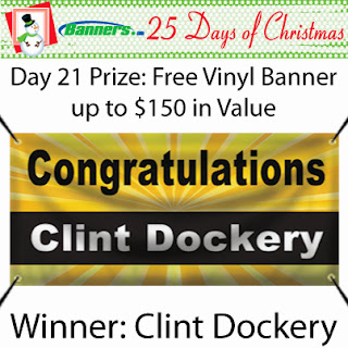 Banners.com 25 Days of Christmas Giveaway - Day 21 Winner
