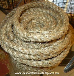 Embellishing Wire Baskets with rope at One More Time Events.com