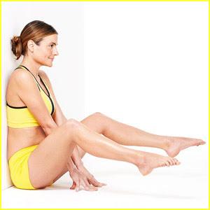 плосък корем - упражнение с повдигане на краката от седнало положение