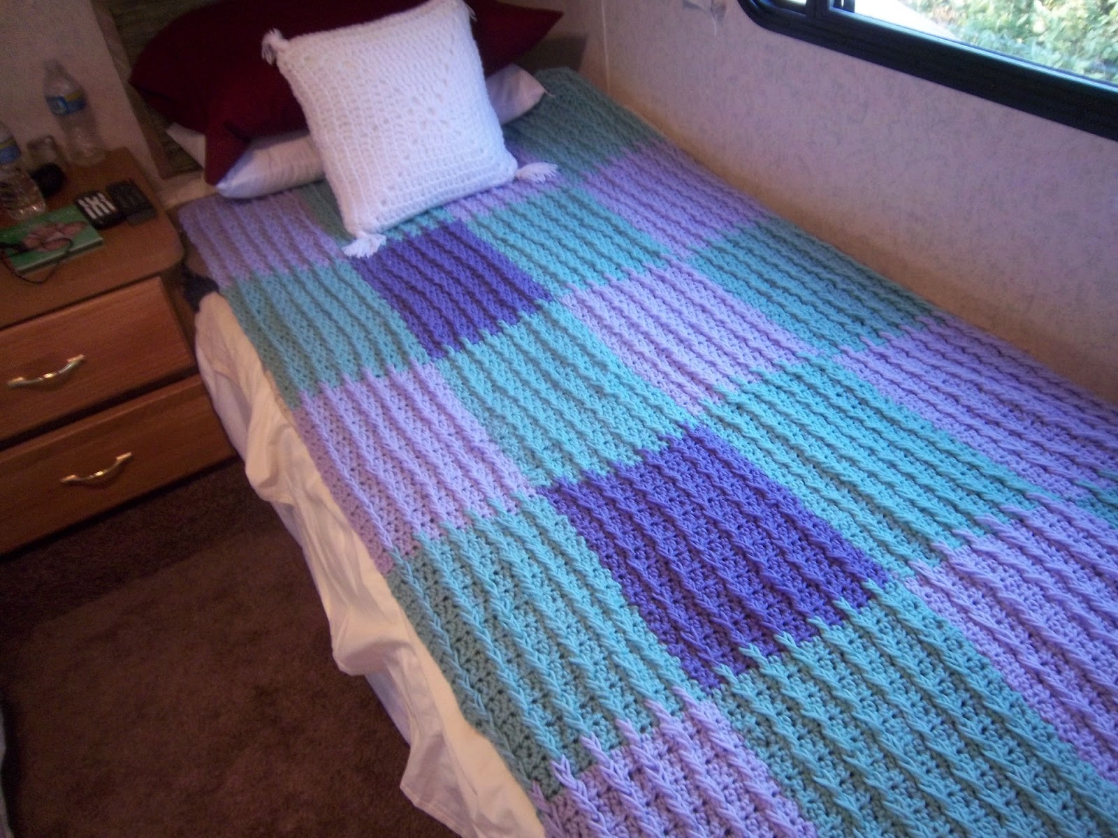 Front Post Double Crochet blanket pattern