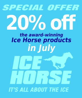 20% off Ice Horse products in July