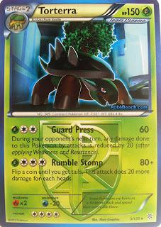 Torterra Plasma Storm Pokemon Card