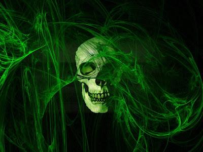 Green Skull Wallpaper 2013