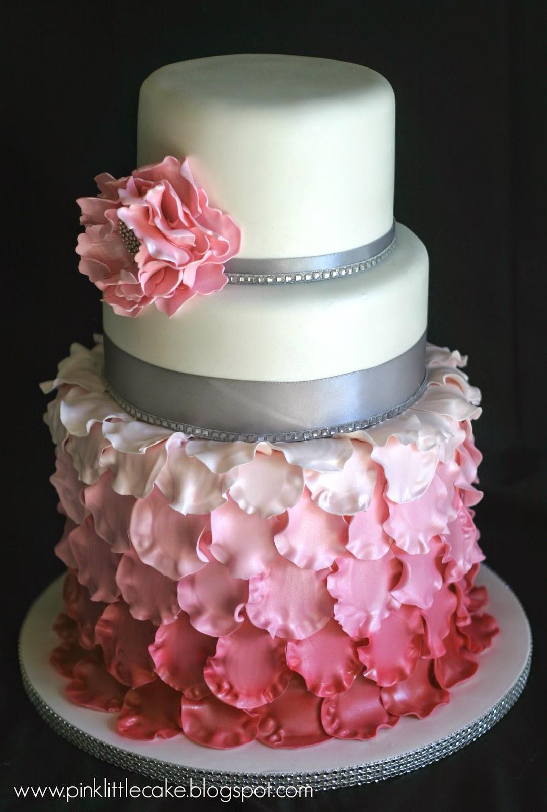 Rose Petal Cake Images : My Pink Little Cake: Petal Baptism Cake