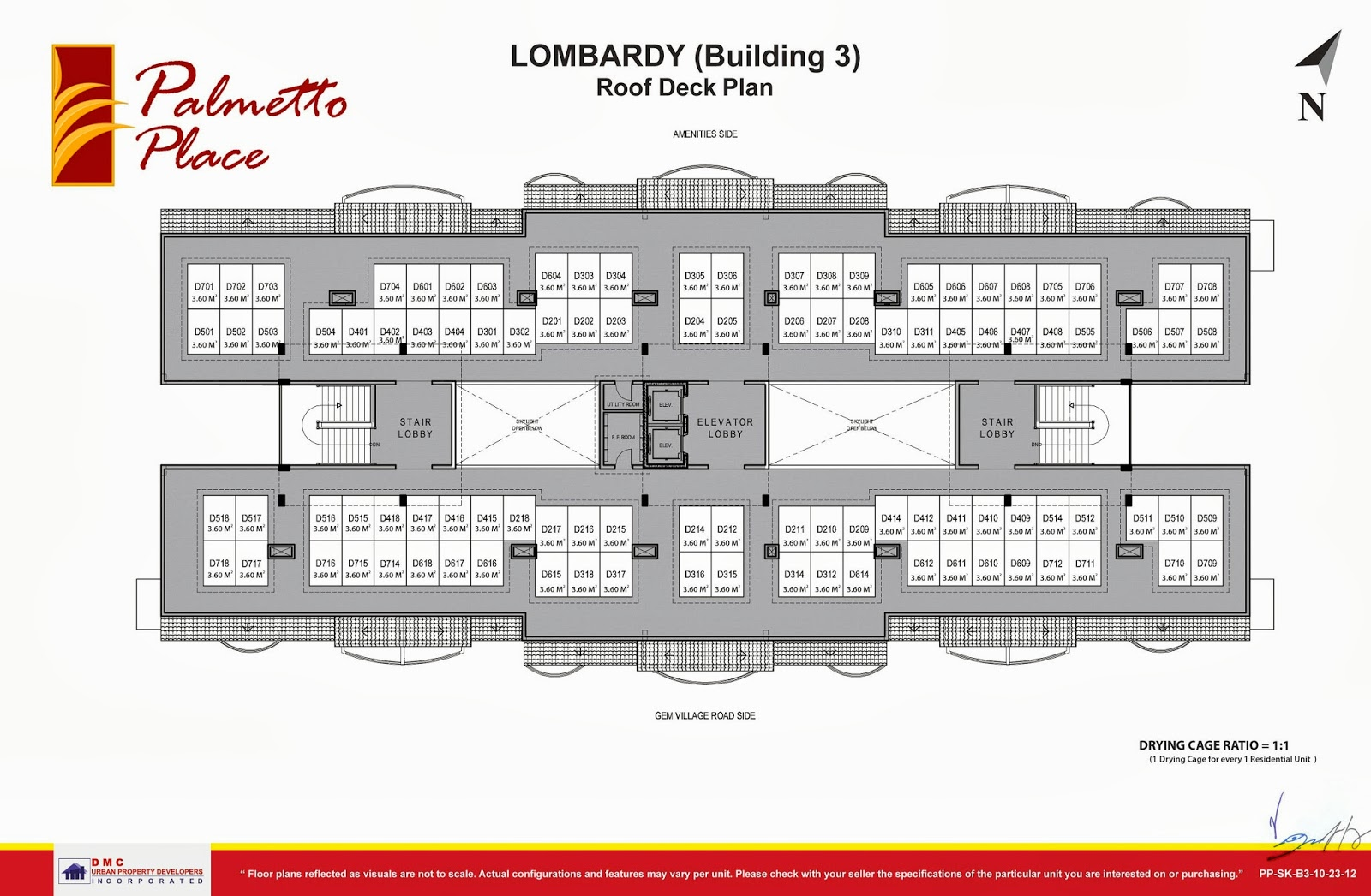 Palmetto Place Condominium, Ma-a, Davao City Roof Deck Floor Plan