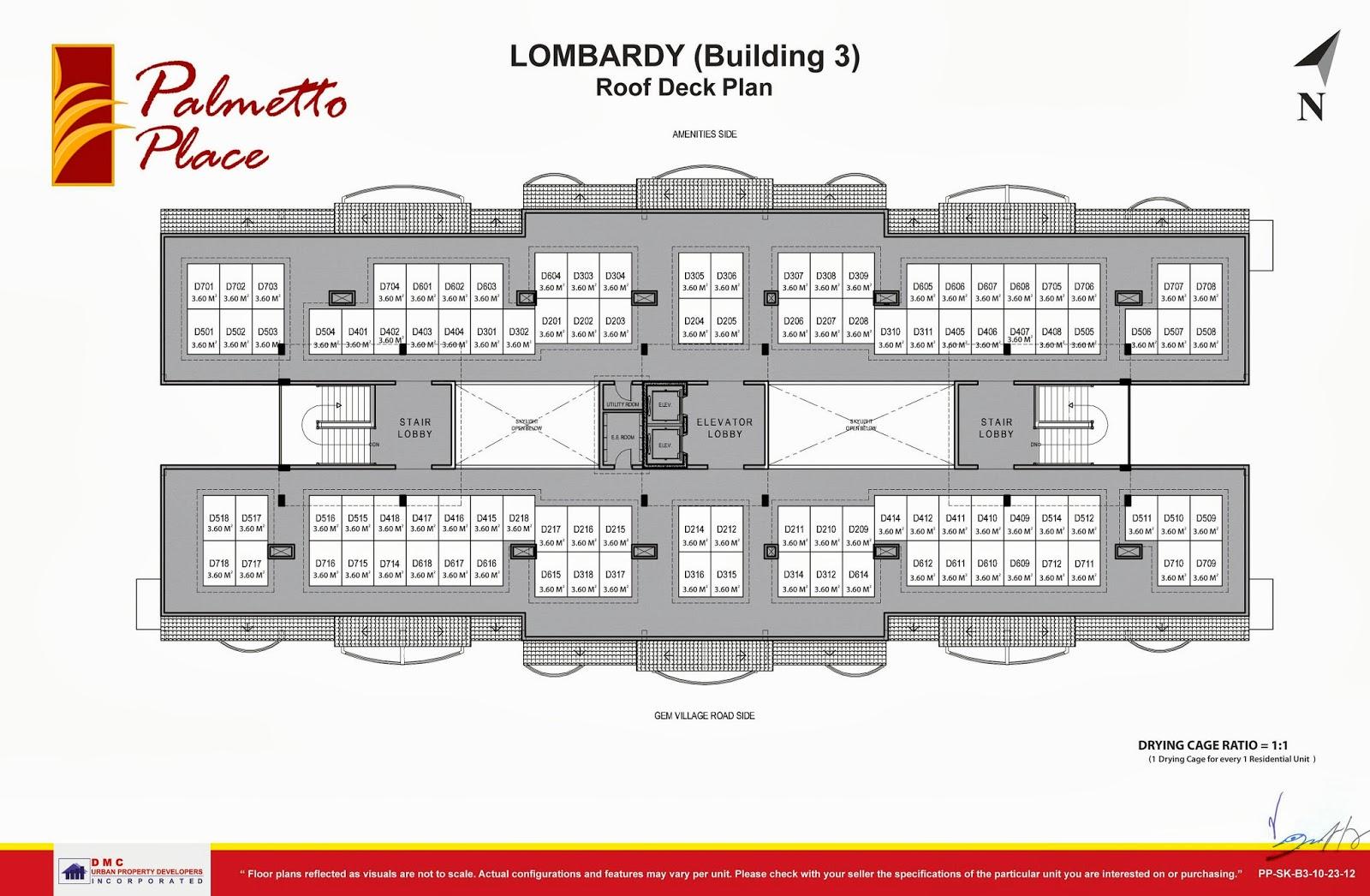 Palmetto Place Condominium, Ma-a, Davao City Roof Deck Floor Plan