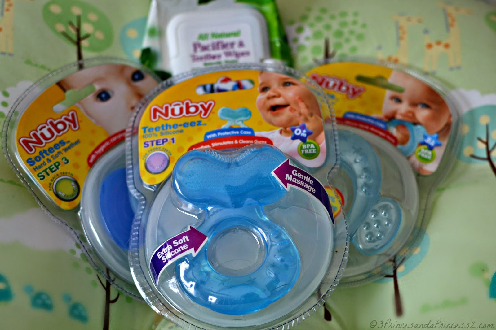 Nuby 3-Stage Teething System with Wipes