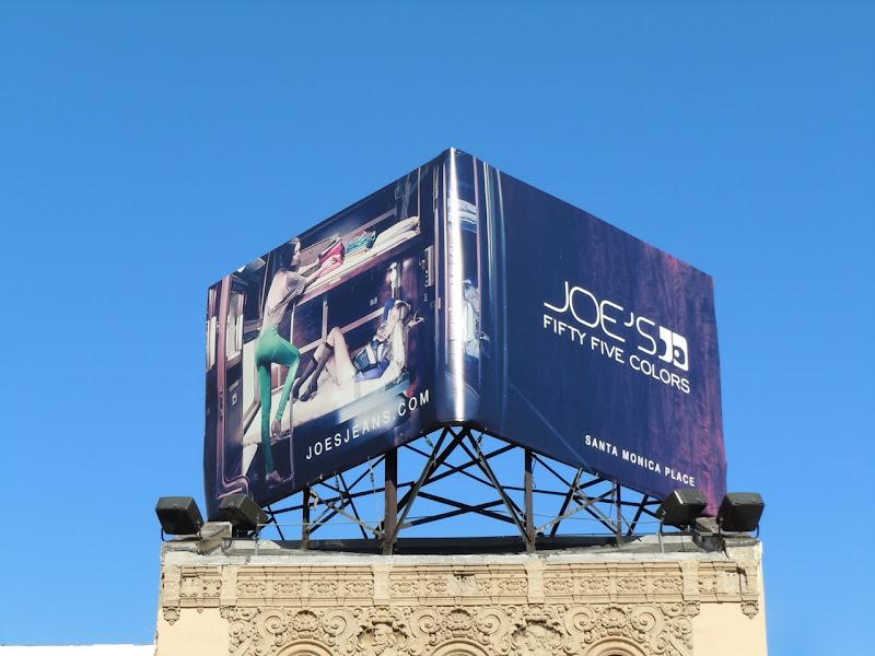 Joe's fifty five colors billboard