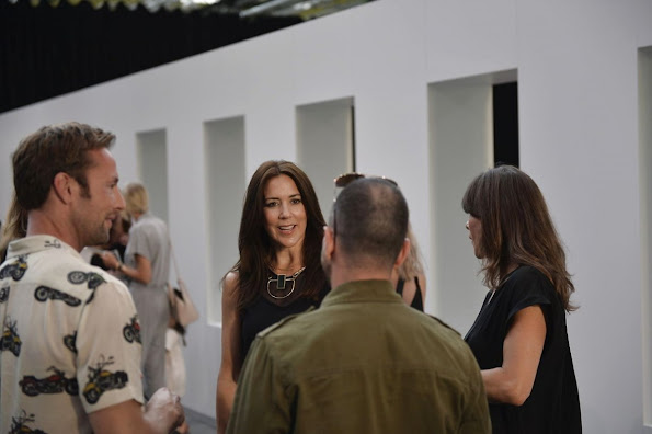Crown Princess Mary of Denmark attended a fashion show organized by Malene Birger