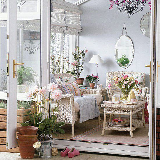 varanda azul e branca delicada