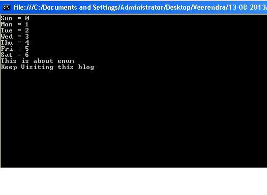 Enum in C#.Net