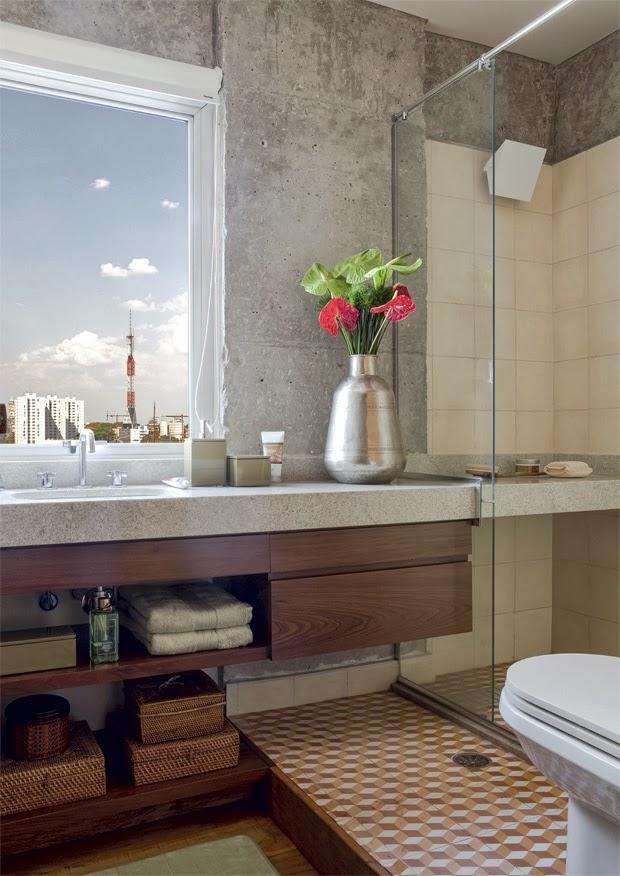 Banheiros pequenos e bem aproveitados -> Banheiro Pequeno E Organizado