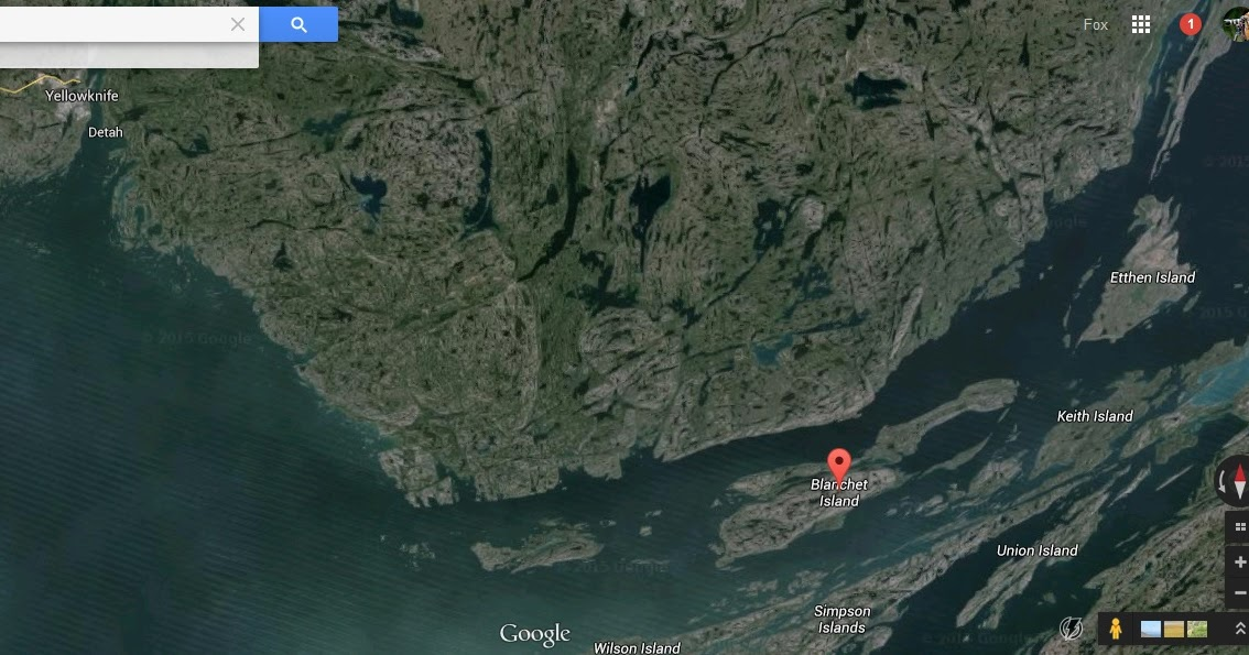 Google Canada Maps%0A Musings of Musang  Blanchet Island  East Arm of Great Slave Lake  Northwest  Territories       August      PART I