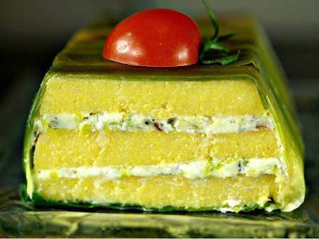Poriluk i gorgonzola u palenti
