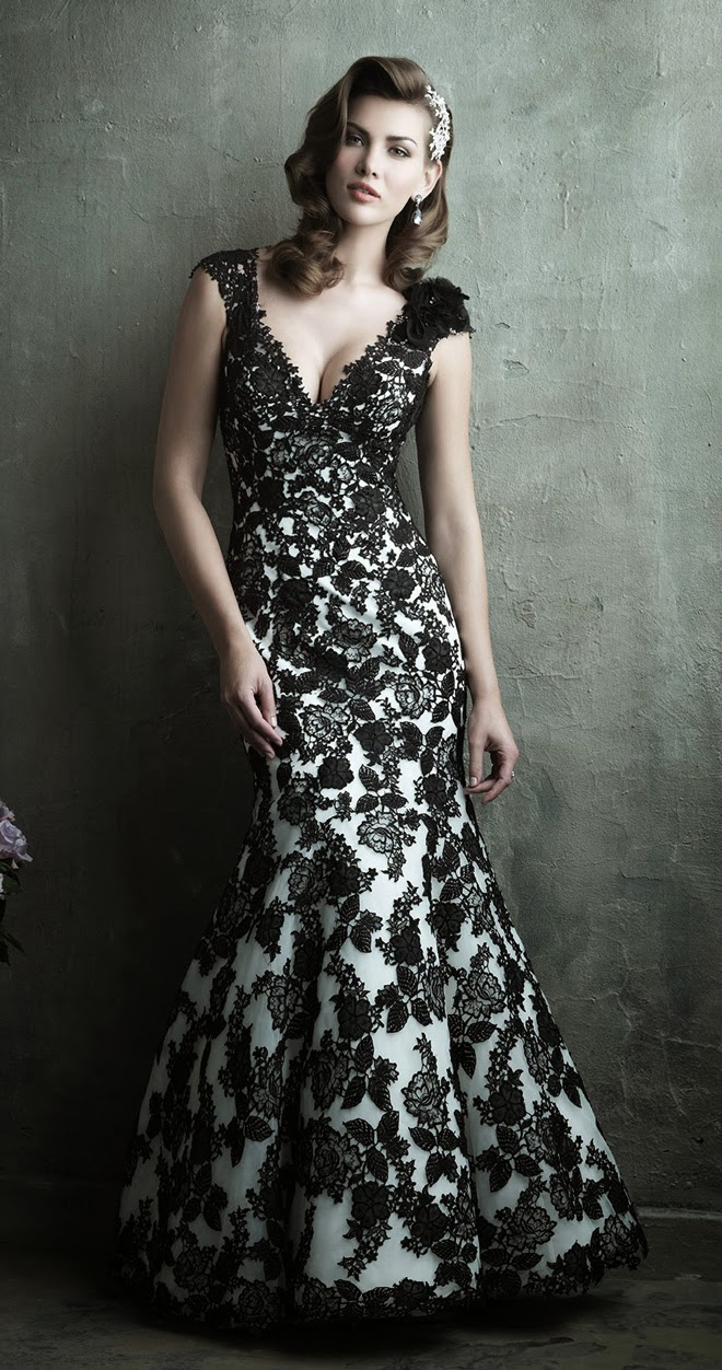 Allure couture spring 2014 bridal collection belle the for Black floral dress to a wedding