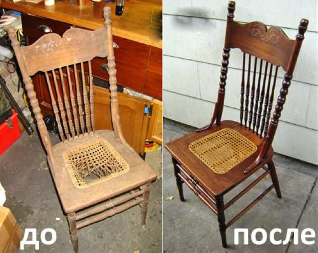 Как отреставрировать стул своими руками фото