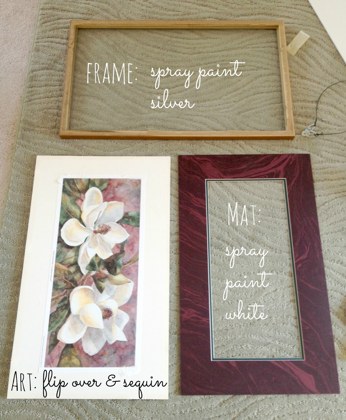 LiveLoveDIY: How To Make DIY Sequin Art