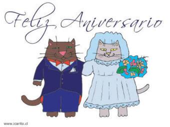 imágenes animadas feliz aniversario de casados