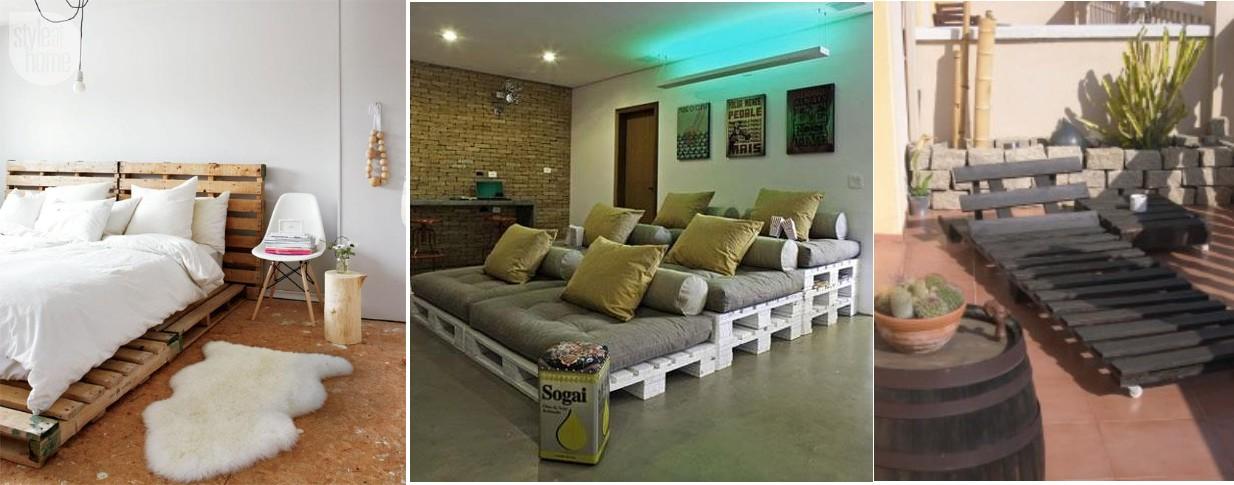 Fabricar muebles con palets de madera construccion y - Manualidades con muebles ...