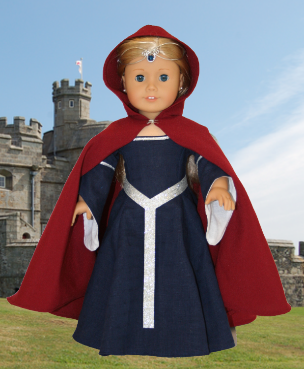 ... for your American Girl Doll: Medieval Cape for American Girl Doll