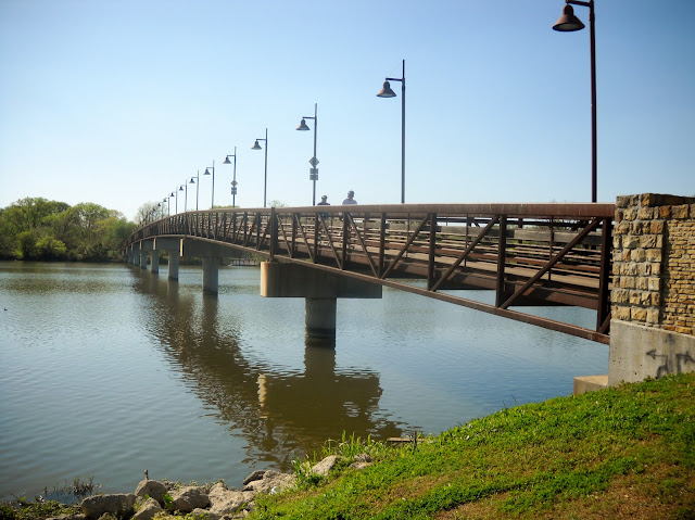 The Mockingbird pedestrian bridge at White Rock Lake, Dallas, Texas