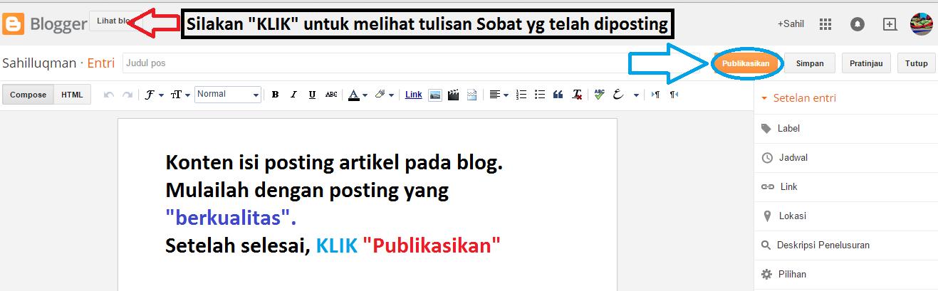 Cara Mudah Membuat Menggunakan Blogspot
