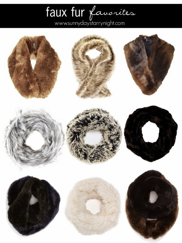faux fur snoods
