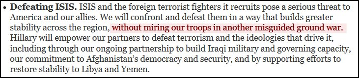 Hillary Clinton's misguided war.