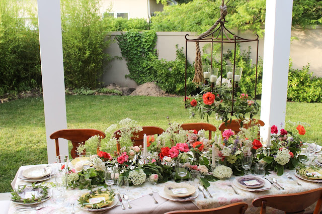 Midsummer Party - A Fragrant & Tasty Soirée - table setting by Aimee Ferre