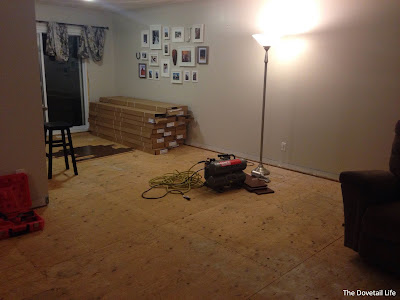 All the old flooring out