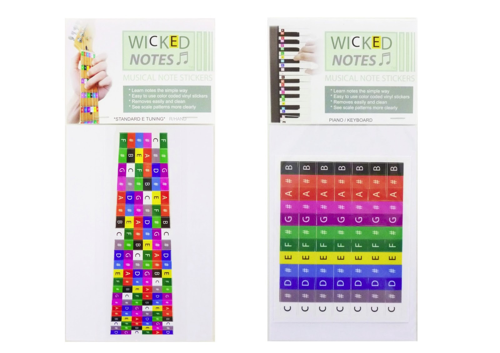 Teach Yourself Guitar Or Piano Keyboard Wicked Notes Instrument