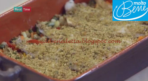 Branzino al pane verde ricetta Parodi per Molto Bene