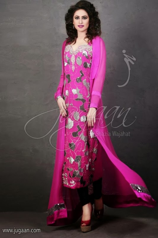 Latest Fashion Trends: Jugaan Beautiful Formal Wear Dress Collection ...