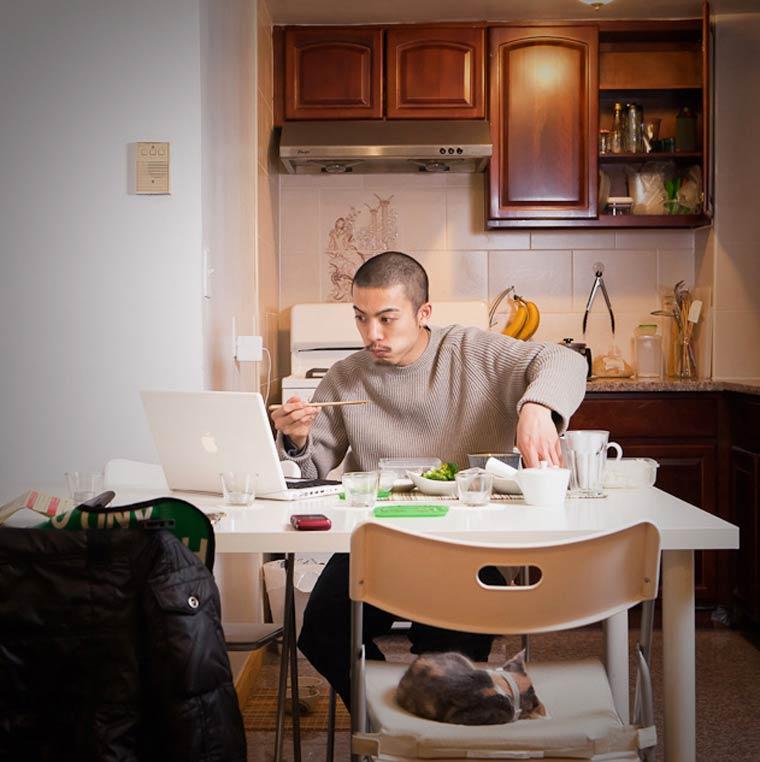 Fotógrafa Miho Aikawa registra como os Nova yorquinos se alimentam