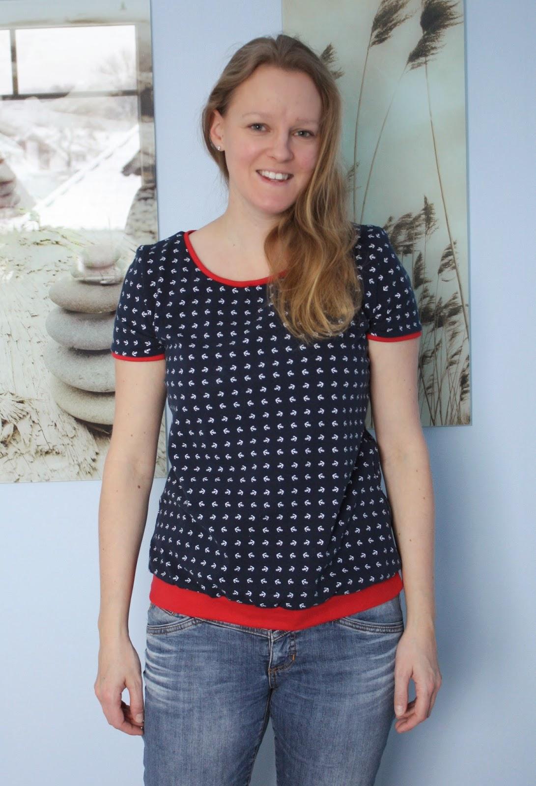 """Maritimes Shirt """"Liv"""" nach pattydoo - Frontansicht"""