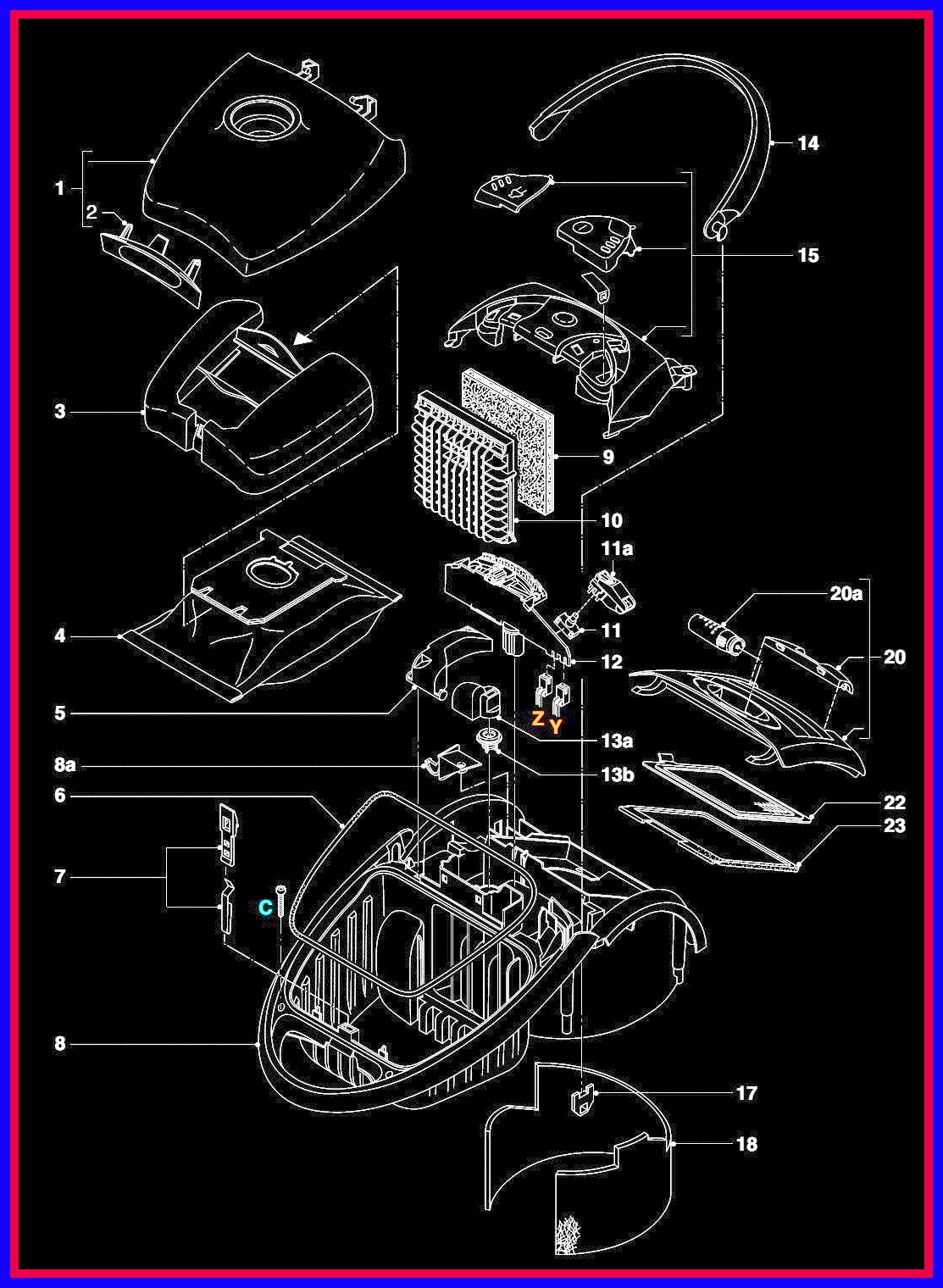 Electronic Equipment Repair Centre Philips Specialist Vacuum Cleaner Diagram Click On The Images To Zoom In