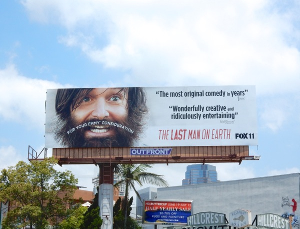 Last Man On Earth 2015 Emmy moustache billboard