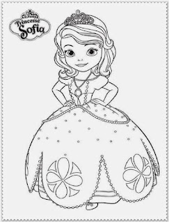 Mewarnai Gambar Princess Putri Sofia