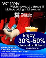 SM Cinema Discount