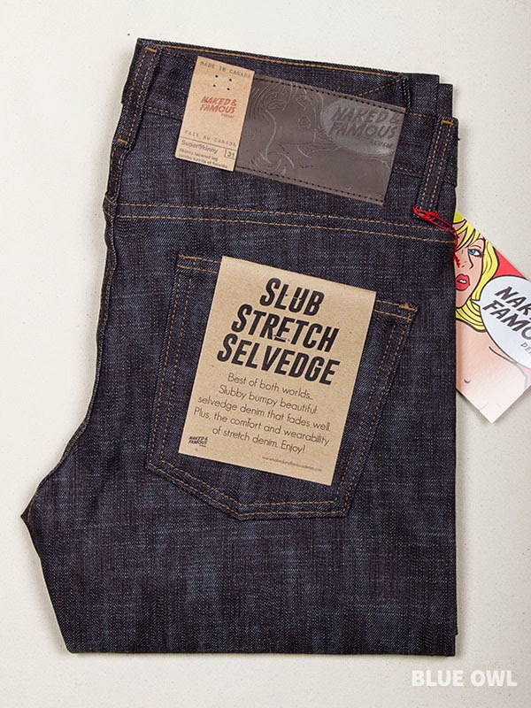 Naked Famous Super Skinny Guy Slub Stretch Selvedge 98 Cotton 2 Elastane Made In Canada Sizes 28 34 36 165 For More Information Click Here