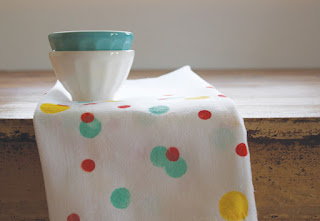Painted Confetti Kitchen Towel