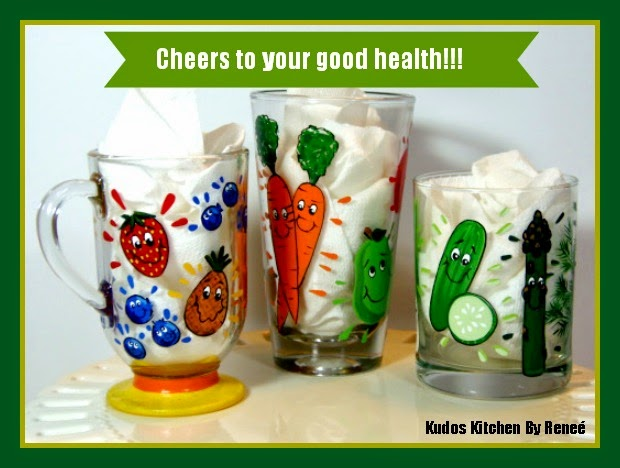 Hand Painted Smoothie Glasses