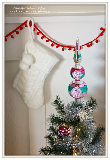Farmhouse Christmas Kitchen-Glass Finial Tree Topper-From My Front Porch To Yours