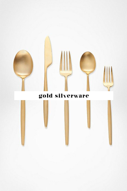 gold cutlery gold knives and forks gold silverware