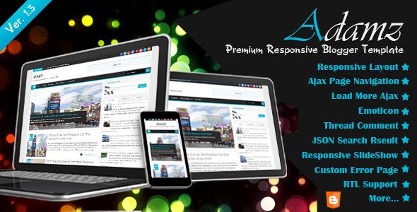 Free Download Adamz - Responsive Blogger Template