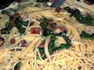 Pasta with Arugula and Pancetta