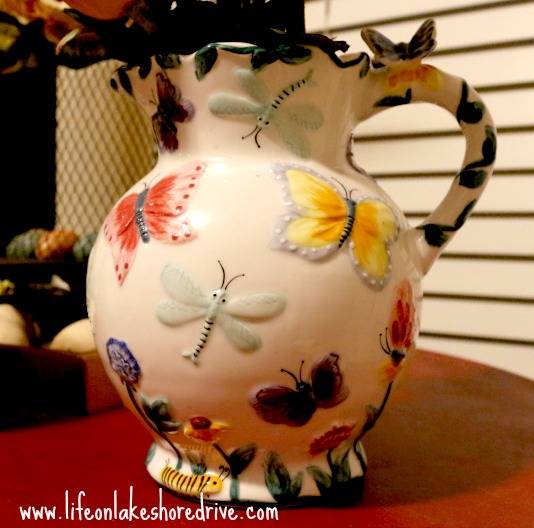 butterfly tea pitcher