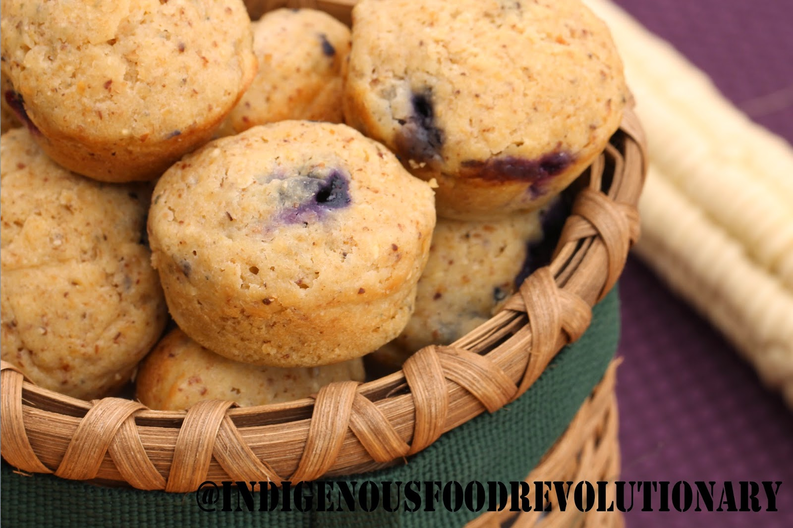 Indigenous food revolutionary blueberry white corn muffins vt a basic muffin recipe these are listed on the website as white corn cherry muffins but i think you can just substitute forumfinder Image collections
